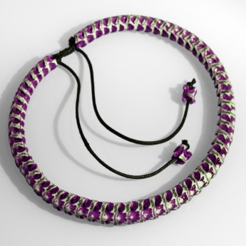 Bracelet, necklace or key chain made ​​from real snake bone in various colors and thicknesses – picture 7