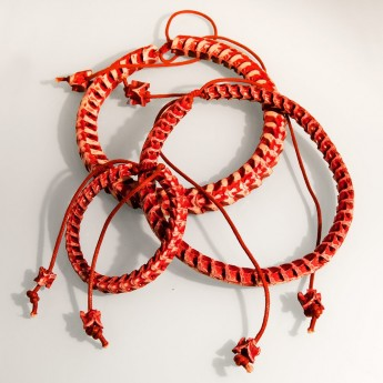 Bracelet, necklace or key chain made ​​from real snake bone in various colors and thicknesses – picture 15