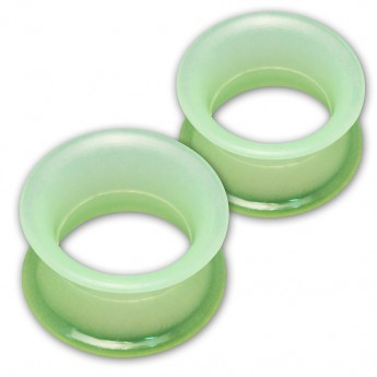 1 pair! Extra soft silicone flesh tunnel with narrow edge - 4 to 30mm - 10 colors – picture 6