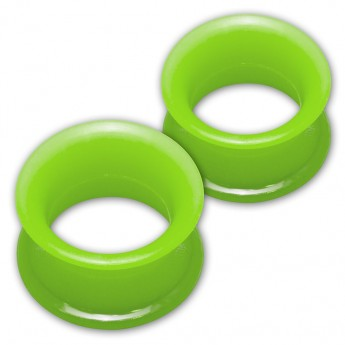 1 pair! Extra soft silicone flesh tunnel with narrow edge - 4 to 30mm - 10 colors – picture 9