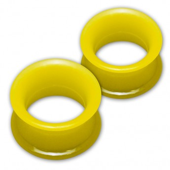 1 pair! Extra soft silicone flesh tunnel with narrow edge - 4 to 30mm - 10 colors – picture 12