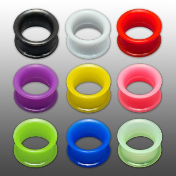 1 pair! Extra soft silicone flesh tunnel with narrow edge - 4 to 30mm - 10 colors – picture 1