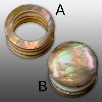 Layered Mother-Of-Pearl Tunnel or Plug – picture 2
