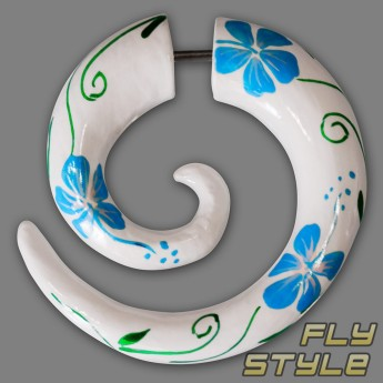 Fake Spiral Wood Expander - Hibiscus Flower – picture 6