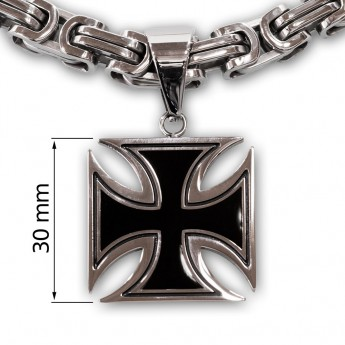 Iron Cross Stainless Steel Pendant - 3 or 4 cm – picture 4