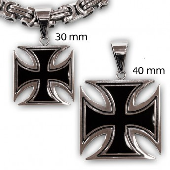 Iron Cross Stainless Steel Pendant - 3 or 4 cm – picture 2