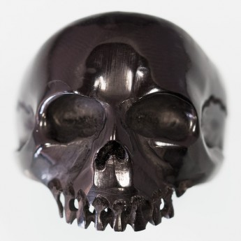 "Horn or Bone Ring "" Classic Skull"" – picture 2"