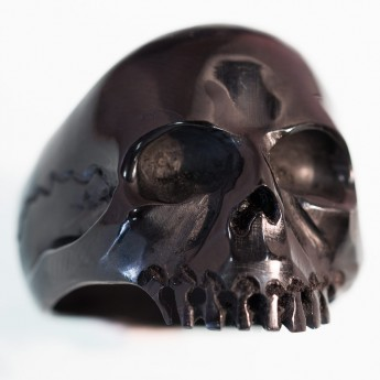"Horn or Bone Ring "" Classic Skull"" – picture 3"