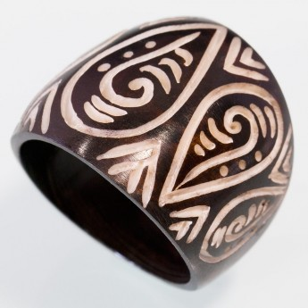 Blackened Bone Ring - Maori Tribal – picture 1