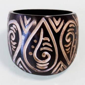 Blackened Bone Ring - Maori Tribal – picture 2