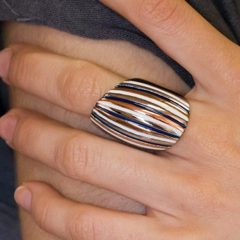 Modern Stainless Steel Design Ring - Muliticolor – picture 7