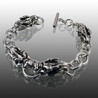 Stainless Steel Dragon Head Bracelet – picture 1