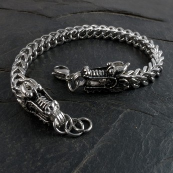Stainless Steel Dragon Heads Bracelet – picture 1
