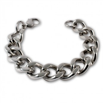 Massive Stainless Steel Armor / Curb Chain - Bracelet or Necklace – picture 2