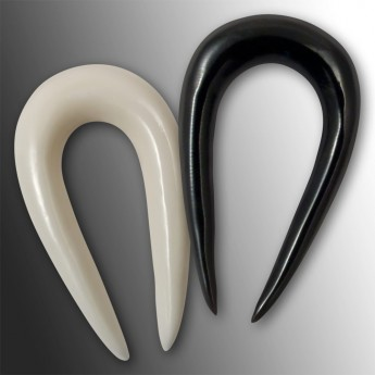 Horn or Bone Ear Spiral Stretcher - Horseshoe – picture 1