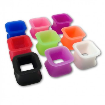 Square Silicon Flesh Tunnel in different Colors – picture 1