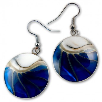 Stainless Steel Nautilus Shell Earrings in 4 different colors – picture 2