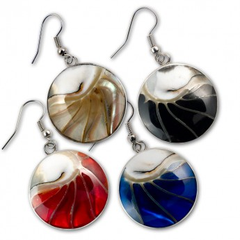 Stainless Steel Nautilus Shell Earrings in 4 different colors – picture 1