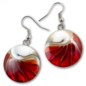 Stainless Steel Nautilus Shell Earrings in 4 different colors – picture 5