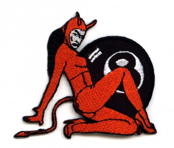 "Patch ""Pin Up Devil with 8-Ball"""