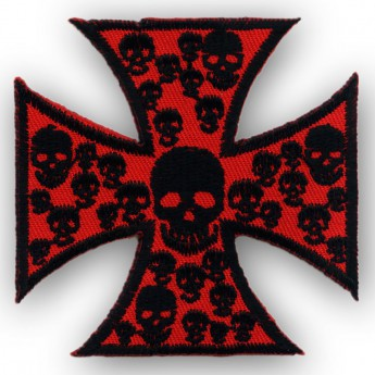"Patch ""Iron Cross with Skulls"""