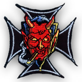 "Patch ""Iron Cross with Smoking Devil"""