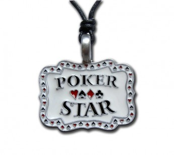 "Pewter Pendant ""Poker Star"""
