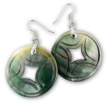 Dangle Shell Earrings - Chinese Coins