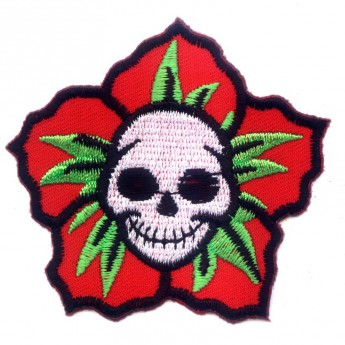 "Patch ""Flower Skull"""