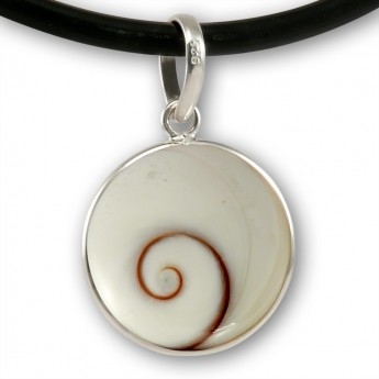 Round Silver Pendant with Shiva Eye – picture 1