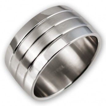 Classical wide Stainless Steel Ring