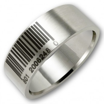 Stainless Steel Ring - Barcode