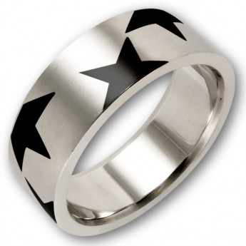 Stainless Steel Ring - 80s Flash Star