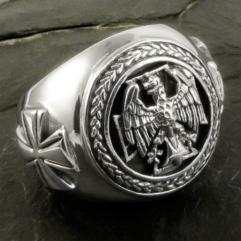 German Eagle Silver Signet Ring