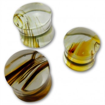 Ear Plug - Rainbow Obsidian - in three different colors – picture 7