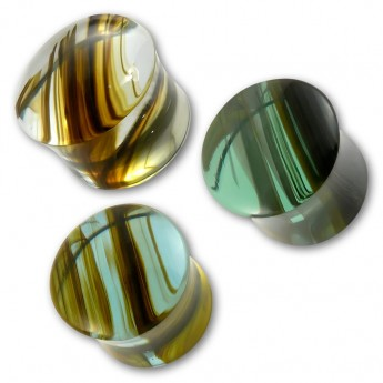 Ear Plug - Rainbow Obsidian - in three different colors – picture 1
