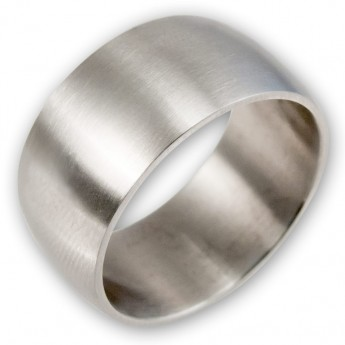 Classic and wide Stainless Steel Ring – picture 1