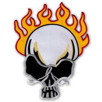 "Back Patch ""Burning Skull"""