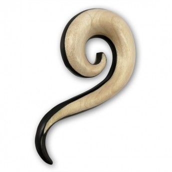 Bicolored Curved Wood Spiral Stretcher – picture 1