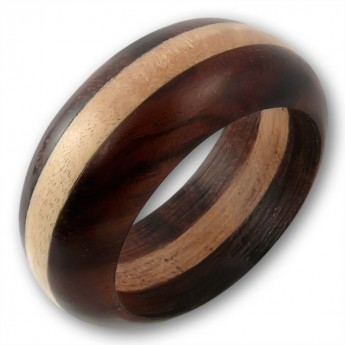 Bicolour Ring from Wood