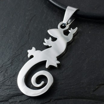 Stainless Steel Pendant - Lizard – picture 2