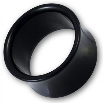 Plain Acrylic Flesh Tunnel in black or white – picture 2