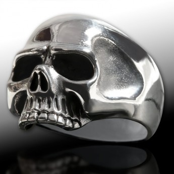 "Silver Ring ""Classic Skull"" – picture 1"