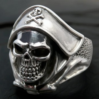 Silver Ring - Death`s Head Buccaneer Captain – picture 7