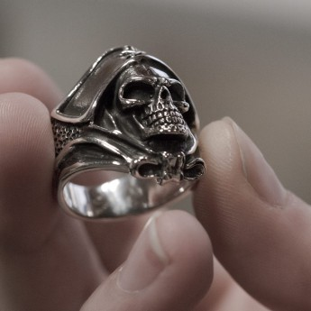 Silver Ring - Death`s Head Buccaneer Captain – picture 3