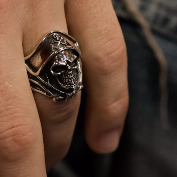 Silver Ring - Death`s Head Buccaneer Captain – picture 5