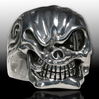 Sterling Silver Skull Ring - Mafia Godfather – picture 2