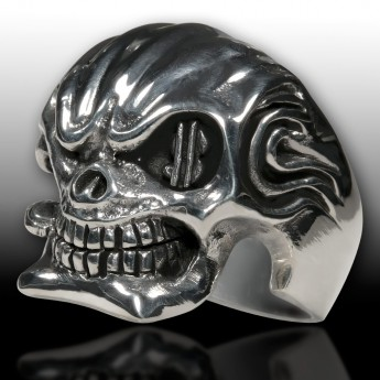 Sterling Silver Skull Ring - Mafia Godfather – picture 1