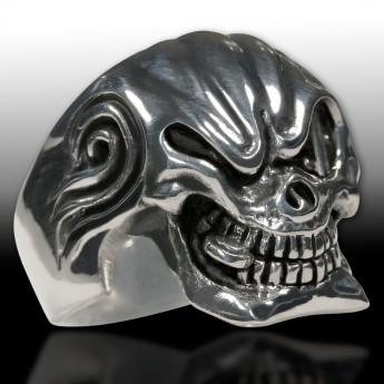 Sterling Silver Skull Ring - Mafia Godfather – picture 3