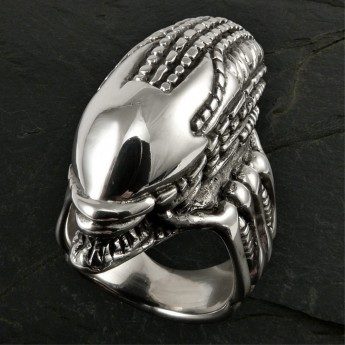 Silver Ring - Alien Skull – picture 1